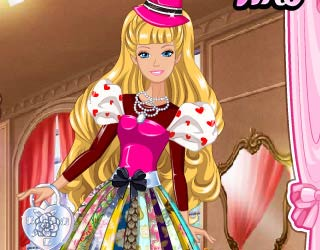 Game Barbie's Valentine's Patchwork Dress
