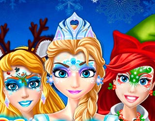 Game Christmas Face Painting