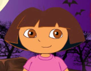 Game Dora Halloween Dress Up