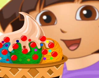 Game Dora Ice Cream Decoration