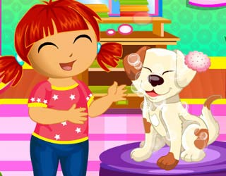 Game Dora Puppy Caring Game