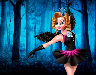 Game Elsa and Anna Frozen: Black Swan and White Swan