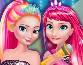 Game Elsa And Anna In Rock N Royals