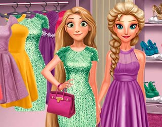 Game Elsa And Rapunzel Dressing Room