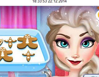 Game Elsa Cooking Gingerbread
