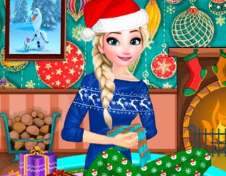 Game Elsa Frozen Christmas Night
