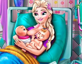 Game Elsa Mommy Twins Birth