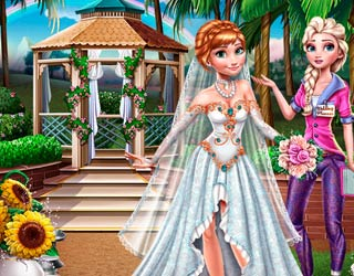 game Elsa Preparing Anna Wedding