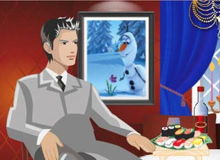 Game Elsa Romantic Dinner