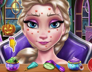 game Elsa Scary Halloween Makeup