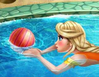 Play free elsa swimming pool - Swimming pool games for two players ...