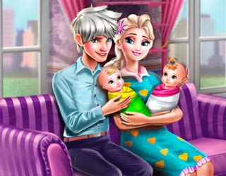 Game Elsa Twins Family Day