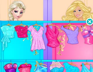 Elsa Vs Barbie Fashion Contest Games Play Free Elsa vs Barbie