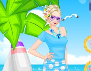 Game Elsas Beach Day Dress Up