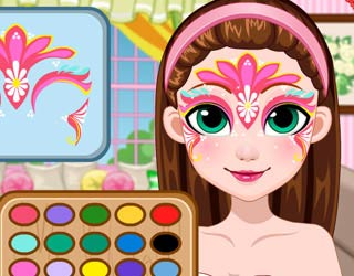 Game Fairy Face Painting Design