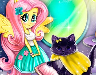 Game Fluttershy's pet care