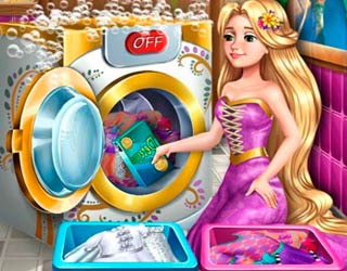 Game Goldie Princess Laundry Day