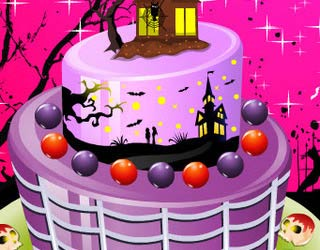 Game Halloween Special Cake Decor