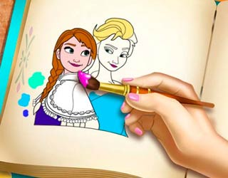 Game Ice Kingdom Coloring Book