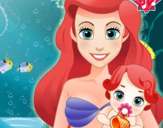 Game Mermaid Ariel Give Birth To a Baby