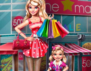Game Modern Mom Barbie Shopping
