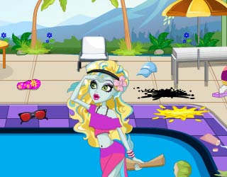 Game Monster High Swimming Pool Cleaning