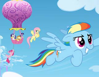 Game My Little Pony Rainbow Dash Flies Puzzle