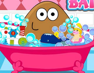 Game Pou Girl Bathing Day