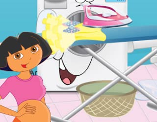 Game Pregnant Dora Ironing Clothes