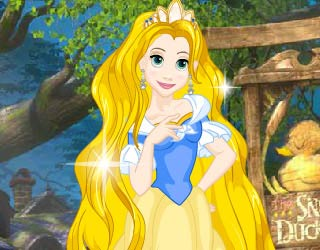 Game Princess Rapunzel Goldie Style Dress Up