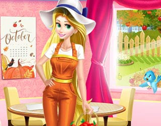 Game Princess Working In Garden
