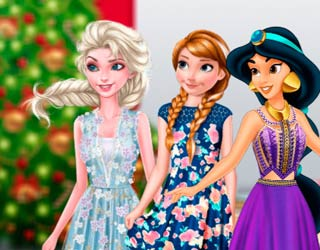 Game Princesses waiting for Santa