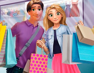 Game Rapunzel and Flynn Shopping Day