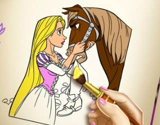 Game Rapunzel Coloring Book