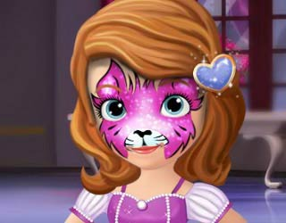 Play free sofia the first face tattoo for Sofia the first tattoos