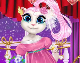 Game Talking Angela Wedding Dress