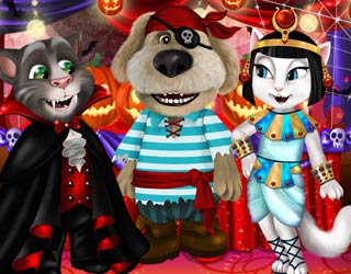 Game Talking Tom And Angela Halloween Party