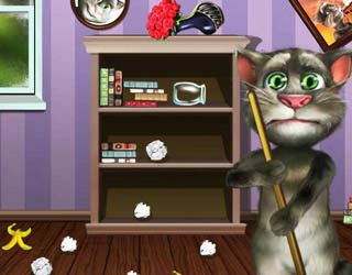 Game Tom Cat clean room