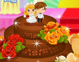 Game Wedding Chocolate Cake