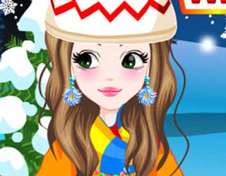 Game Winter Cabin Getaway Dress Up